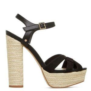 Black Espadrille Platform Heel Sandal - 7 (NWOT)